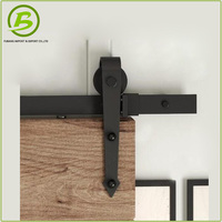 China manufacturer bypass sliding barn door hardware wood
