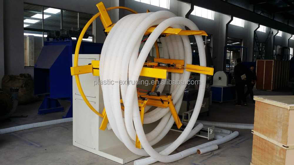 PP/PE Plastic Single Wall Corrugated Pipe Extrusion Machine