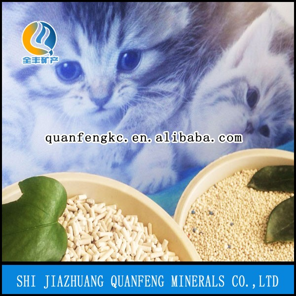 Wholesale pure clay super white thick mineral kitty sand