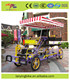 hot sale popular 4 wheel tandem bicycle /surrey sightseeing bike for 5 person with kids seat