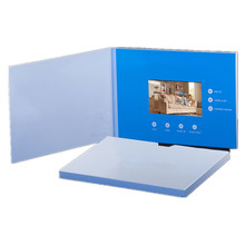 Decorations invitaion card portable custom video player greeting business, lcd audio video greeting brochure card