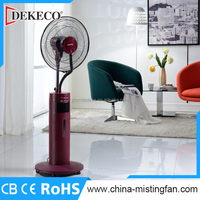 electric fan with ice water air cooler mist spray