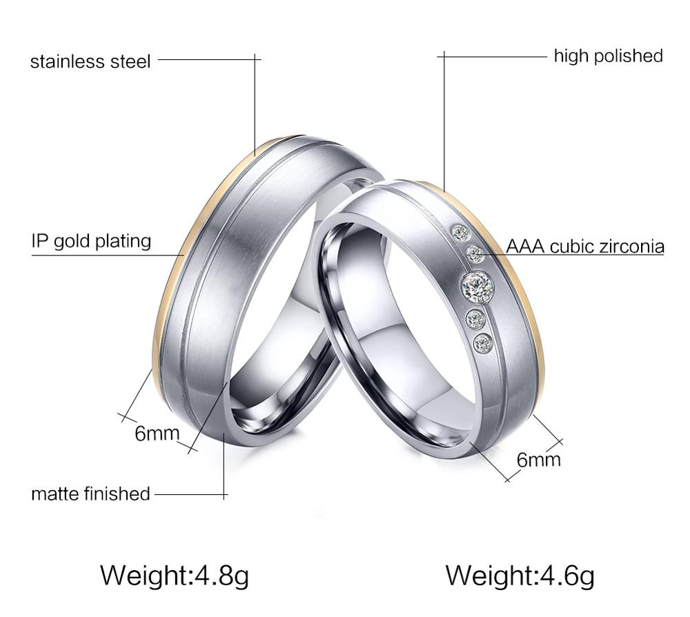 Fashion lovers ring, 6 mm zircon titanium steel wire drawing lovers ring, factory direct sale YSS689