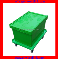 Super Quality 65L Moving Attached Lid Plastik Box