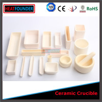 High temperature 1800C tolerance alumina ceramic crucibles