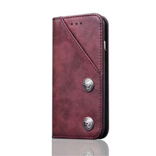 2017 Newest High Quality Magnetic Retro PU Leather Mobile Phone Cases