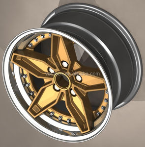 New Design Custom Three pieces Forged wheels