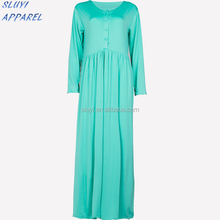 China Direct Factory muslim jubah Half Button Jubah Dress Including Shawl casual long sleeve maxi wholesale jubah