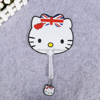 hot sale cute cartoon design advertising fan pp fan pp plastic hand fan