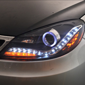 VLAND manufacturer for car taillight for LAVIDA head light 2008 2009 2010 2011 LED head lamp with DRL+turn signal wholesales