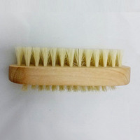 Wood Handle Bristle Hair Nail Cleaning Brush