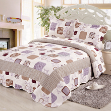 Handmade cotton throw printed bedspread patchwork quilts