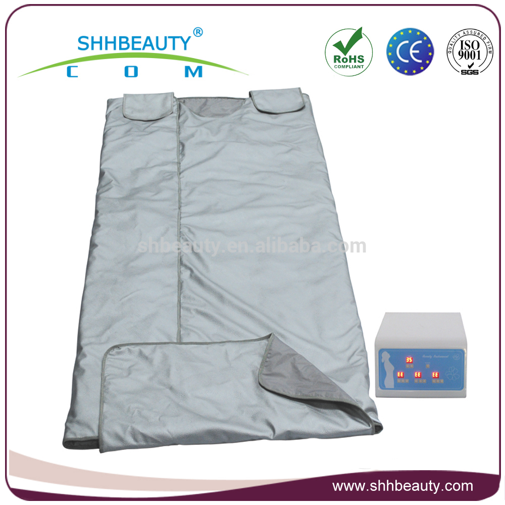 Hot sale heat therapy portable 3 zone far infrared ray thermal sauna blanket for weight loss