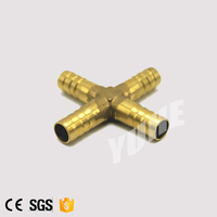 Quick Connect Brass 4 Way Connector