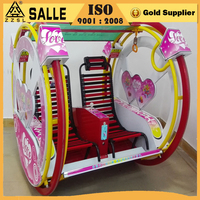 2016 amusement attractive happy car electric kids le bar car ride and swing machine
