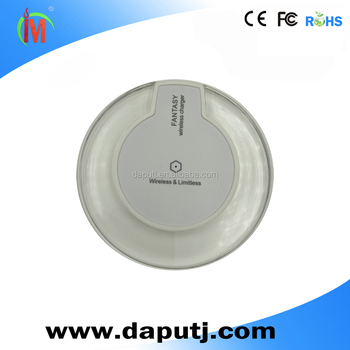 Phone wireless charger,cell phone qi wireless charger,round simple smart wireless charger