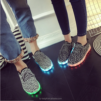 Summer new colorful LED shoes men and women trend fashion models shine shoes