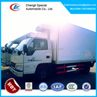 JMC 3-5tons refrigeration truck,refrigerator box truck with hydraulic tailgate lift door
