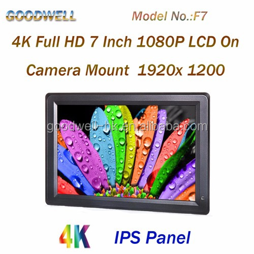 Support 4K 7 Inch Full HD 1920x1200 Resolution IPS Panel Camera Application Monitor for Film Makings