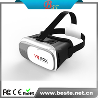 HERE!!High quality hot selling plastic VR box 2.0 google cardboard sell with bluetooth gamepad