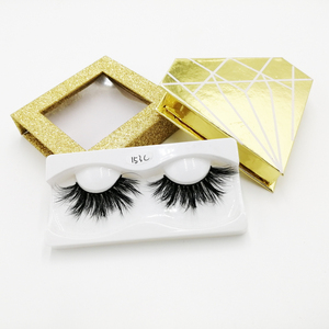 Private Label Fluffy Mink Lashes False Eyelashes Best Selling Messy 3d Mink Eyelashes with Custom Packaging