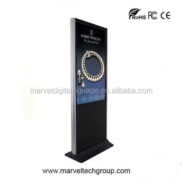 "Stand alone indoor wireless wifi 55"" touch screen kiosk monitor"