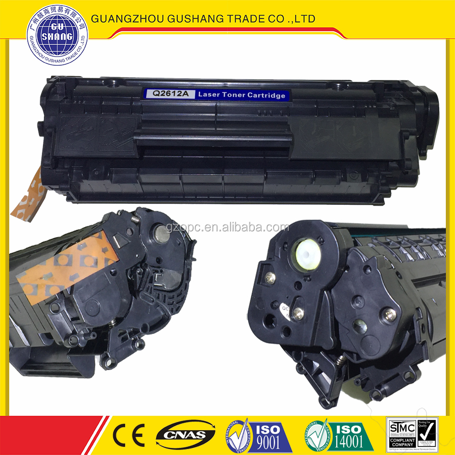 compatible for HP 12A toner cartridge Q2612A 1010 for LaserJet printers