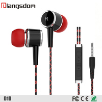 Round Cable In Ear Headphone Earbud for Mobile Phone