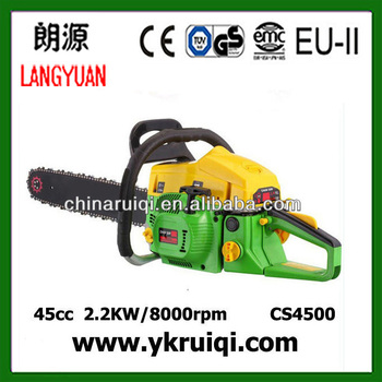 top quality 4500 45cc gasoline chain saw for gardening and agriculture