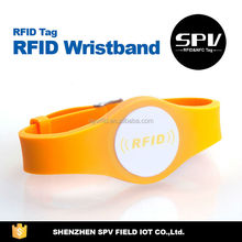 Customized logo printing rfid wristbands for events