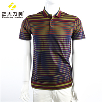 polo short shirts men circular cotton machine tshirt wholesale striped t-shirt
