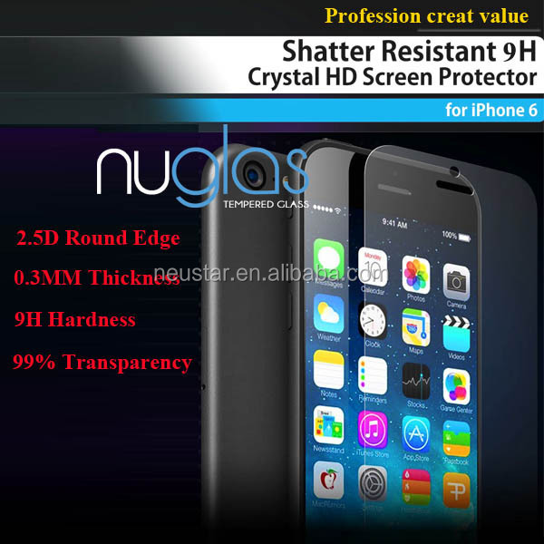 Quotation for New Explosion-proof 9H tempered glass protective film for iphone 6& plus/screen protector for iPhone 6