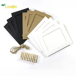 Wholesale Wall Beautiful Creative 10pcs Paper Picture Frames DIY Cardboard Photo Frame