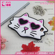 For iPhone Phone Case 3D Cool Sunglasses Cat Pattern Soft Silicone Cell Phone Case For iPhone6 6plus