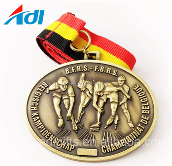 factory cheap custom old metal gold skating sports medals