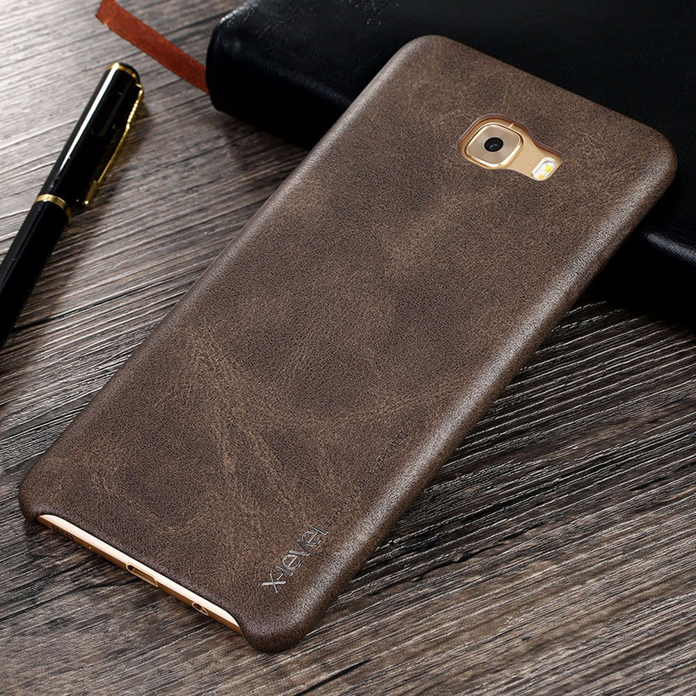 Wholesaler Cheap Price Luxury Vintage leather Phone cases For Samsung Galaxy C9 C9 Pro Back Cover