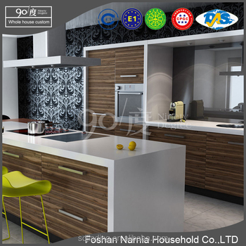 simple design kitchen cabinet showroom for sale