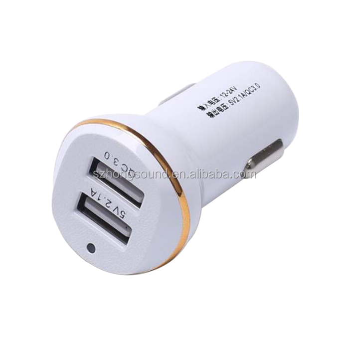 Intelligent Mobile Phone Bullet Auto Detect Quick 2.0 Car Charger