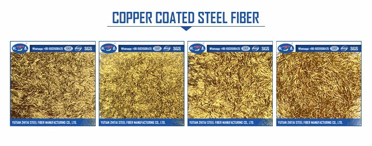 Copper Coated High Tensile strength Steel Fiber From Professional Manufacturer
