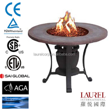 Iron cast garden treasure outdoor gas fire pit stand