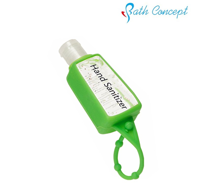 Pocket waterless alcohol AntiBacterial Hand Gel & Sanitizer with silicon holder