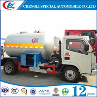 Small LPG Bobtail 5m3 LPG Road Tanker Truck for sale