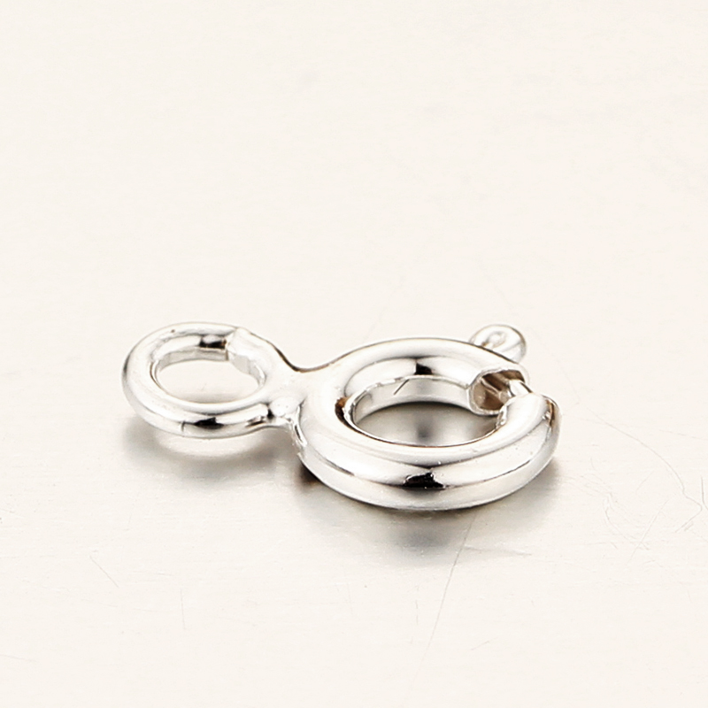 925 sterling silver round decorative magnetic clasps with holes and jumpring