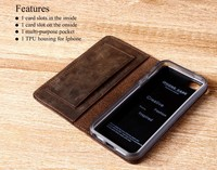 high quality leather belt clip flip wallet case for iphone 6