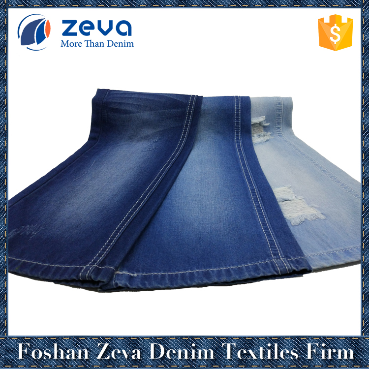High quality low price warp dyed combed printed only cotton in-stock denim fabric