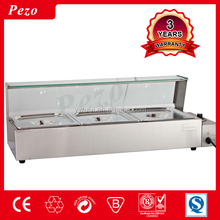 Hot dining restaurant using stainless steel electric food insulation showcase