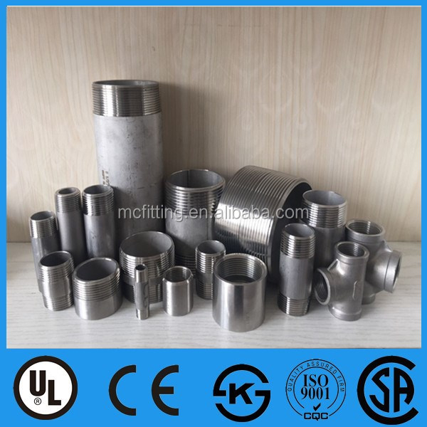 hot sell Carbon steel pipe fitting half coupling/nipple manufacture factory low price