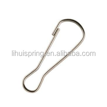 Stainless steel material springs coil lanyard with lobster hook