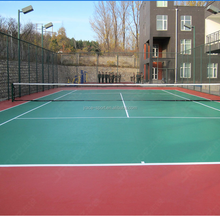 8layers outdoor tennis court flooring material by ITF certificate