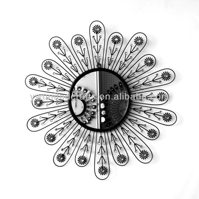 Promotional Sun Shaped Decorative Metal Acrylic Wall Clock